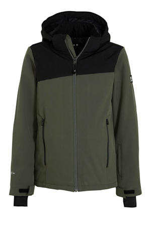 softshell ski-jack Barry JR groen/zwart
