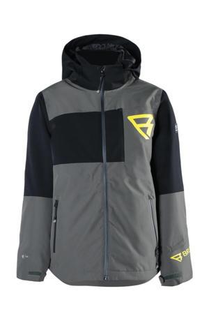 ski-jack Flynn-JR-S grijs/zwart/geel
