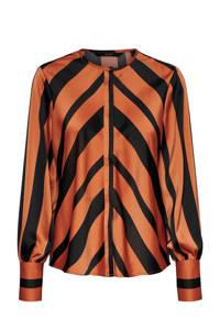 VERO MODA gestreepte blouse oranje/zwart, Oranje/zwart
