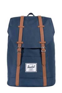 Herschel  retreat rugzak donkerblauw, Blauw