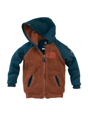 vest Oliver bruin/blauw