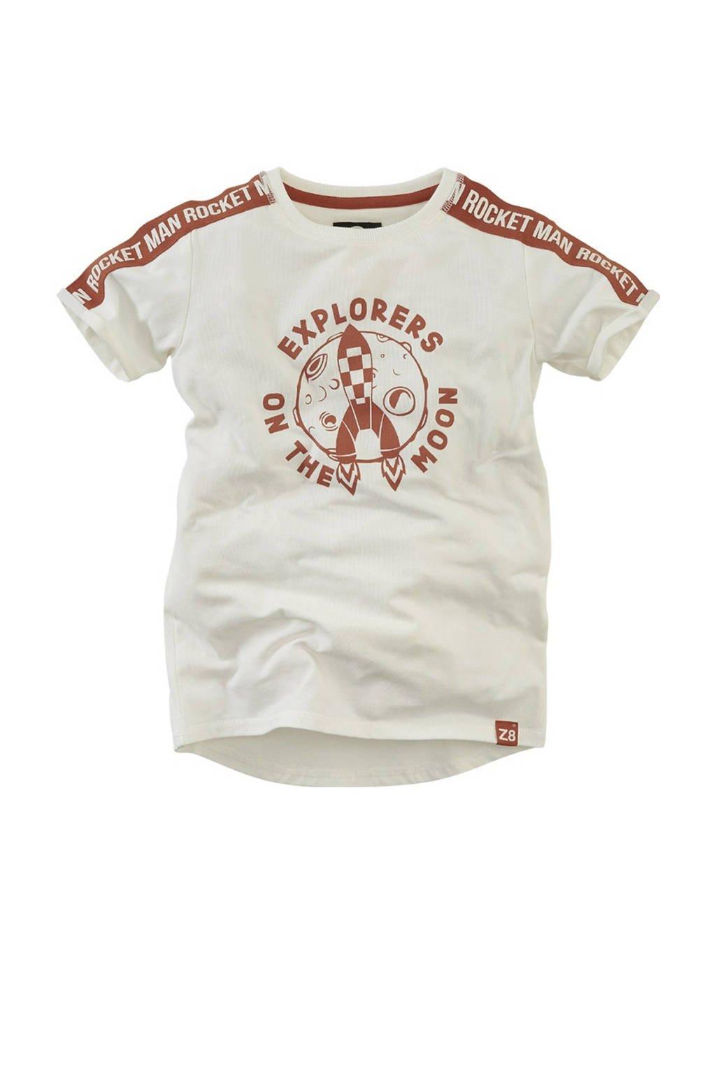 Z8 T-shirt Vincent met printopdruk ecru, Ecru