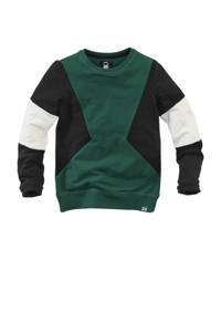 Z8 sweater Nico  groen/zwart/wit, Groen/zwart/wit