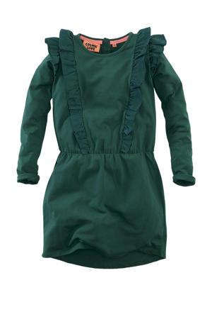 jurk Maantje met volant groen