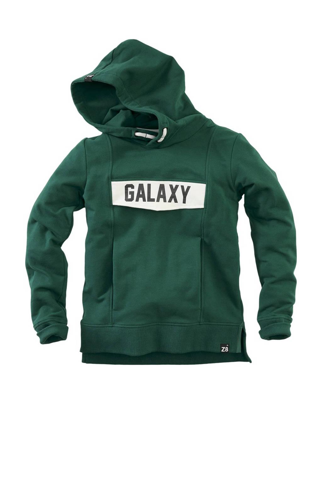 Z8 hoodie Kasper met tekst groen, Groen