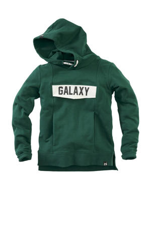 hoodie Kasper met tekst groen