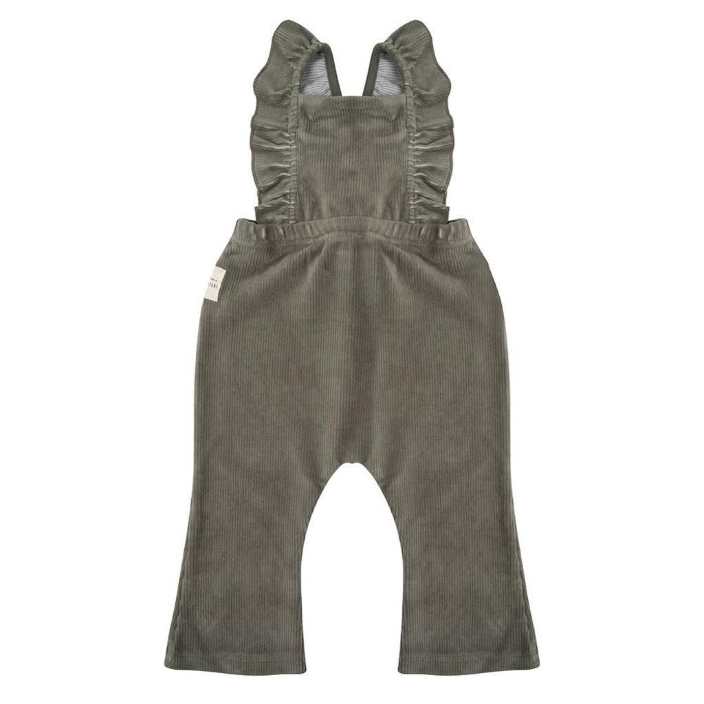 Little Indians baby corduroy jumpsuit groen, Groen