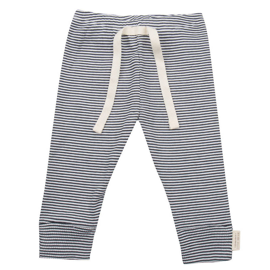 Little Indians baby gestreepte broek donkerblauw/wit, Donkerblauw/wit