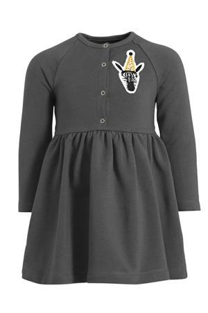 A-lijn jurk met biologisch katoen antraciet