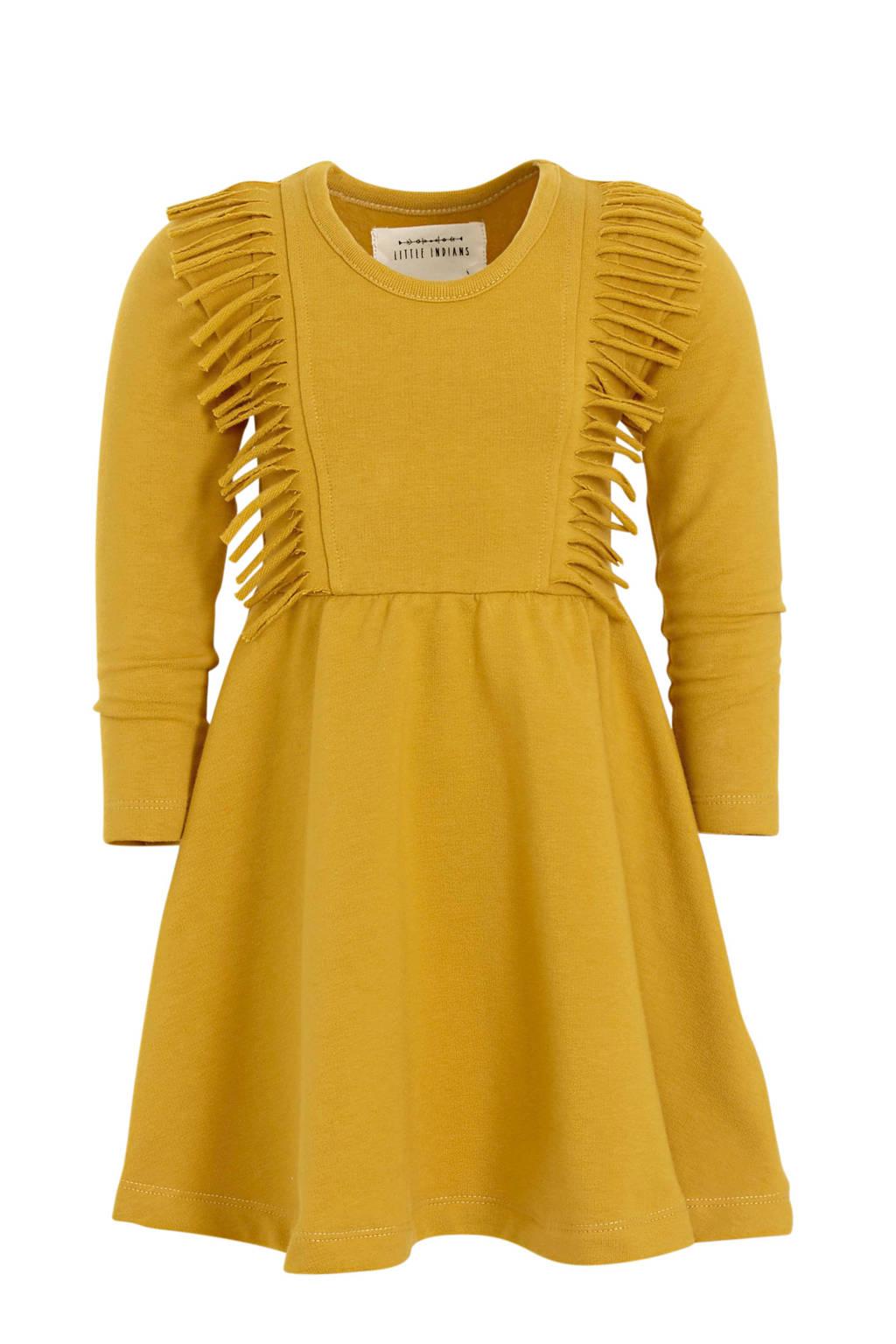 Little Indians A-lijn jurk met biologisch katoen honing, Honing
