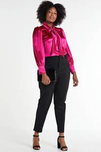 VERO MODA CURVE cropped slim fit pantalon Victoria zwart, Zwart