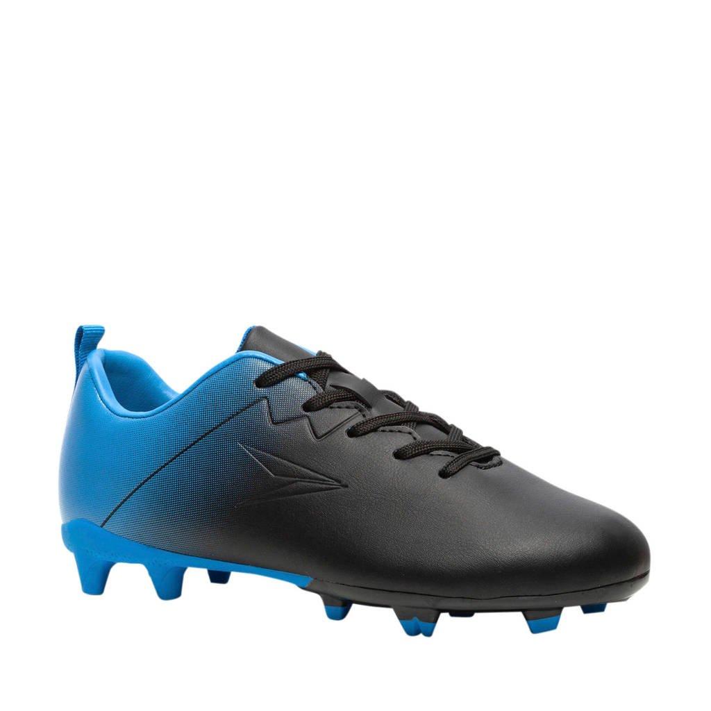 Scapino Dutchy  Fade Jr. voetbalschoenen zwart/blauw, Zwart/blauw