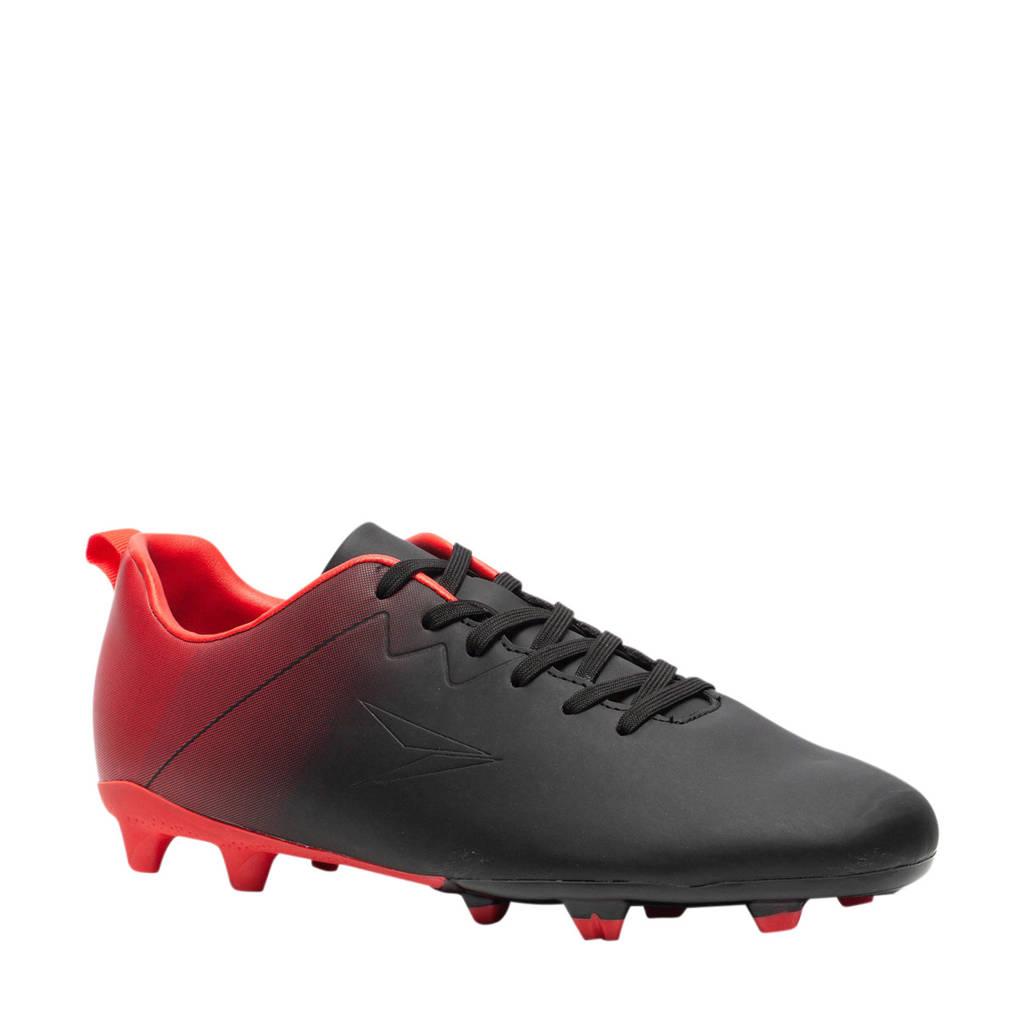 Scapino Dutchy Fade  Sr. voetbalschoenen zwart/rood, Zwart/rood