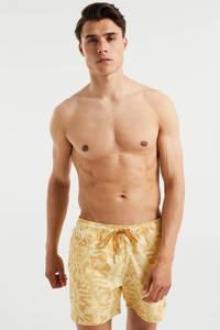 WE Fashion zwemshort met all over print geel, Geel