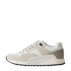 sneakers met leer wit