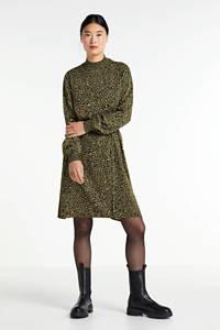 VILA gestreepte jurk Dania groen/wit/roze, Groen/wit/roze