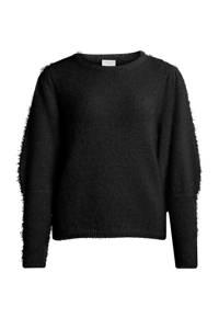 VILA gebreide trui Fenoma zwart, Zwart