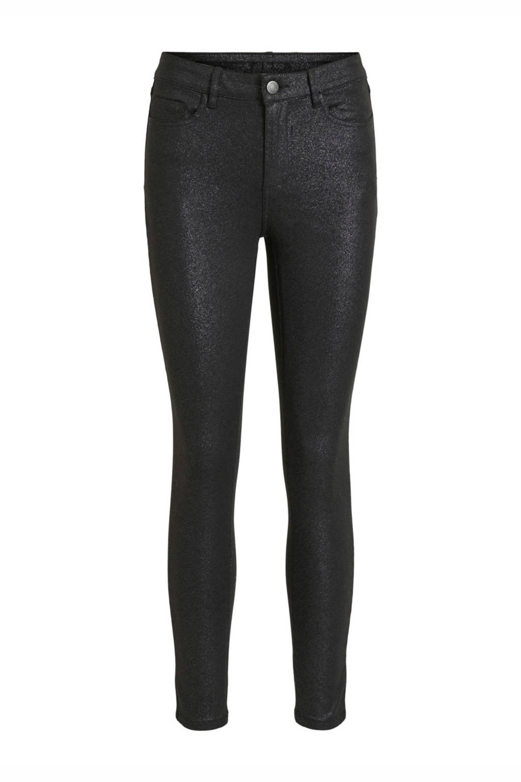 VILA skinny jeans zwart coating VISHINNY black, Zwart