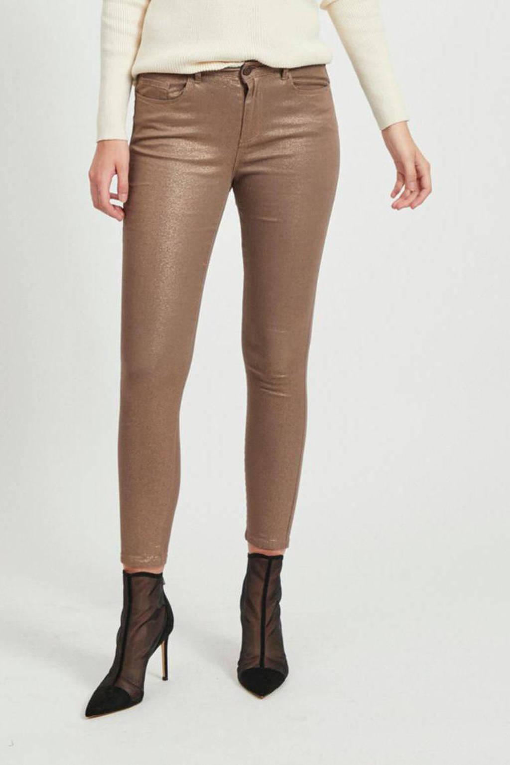 VILA skinny jeans taupe, Taupe