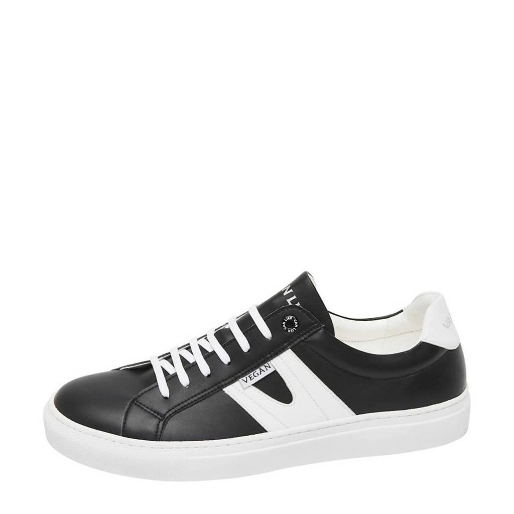 Van Lier Novara  vegan sneakers zwart/wit, Zwart/wit
