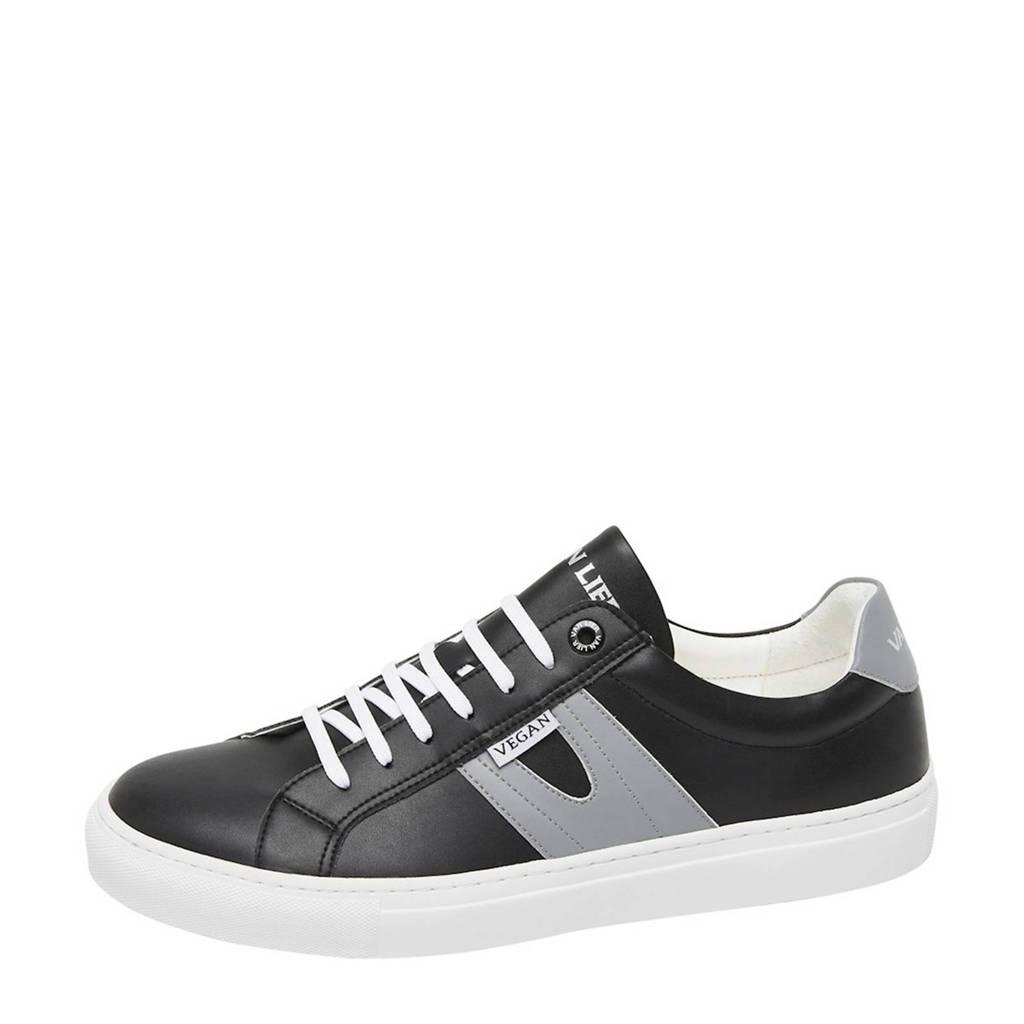 Van Lier Novara  vegan sneakers zwart/grijs, Zwart/grijs