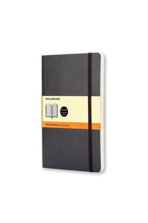 notitieboek Soepel Pocket gelijnd zwart (9 x 14 cm)