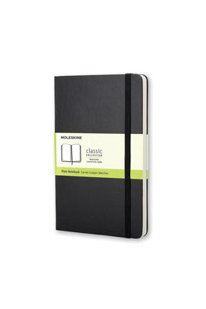 notitieboek Hard Pocket effen zwart (9 x 14 cm)