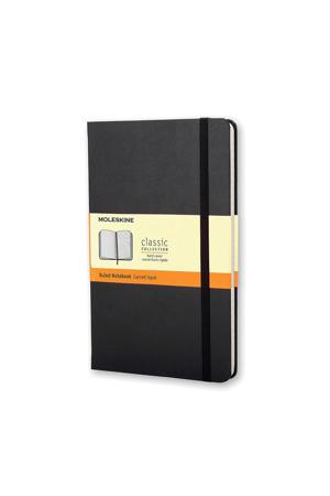 notitieboek Hard Pocket gelijnd zwart (9 x 14 cm)