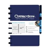 Correctbook  schrift A5 gelijnd donkerblauw, Donkerblauw
