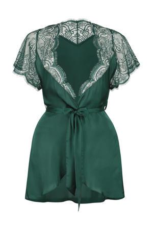 satijnlook kimono groen