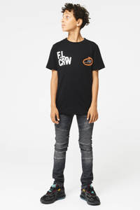 CoolCat Junior T-shirt Eloi met printopdruk zwart, Zwart