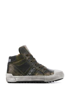 41667   hoge leren sneakers groen