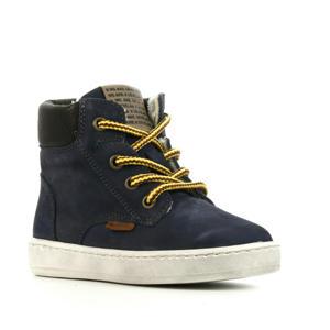 41855 hoge nubuck sneakers donkerblauw
