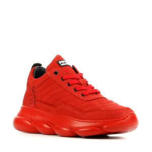 13333  nubuck sneakers rood