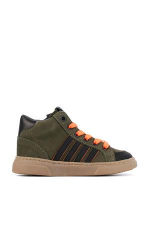 P1882  hoge nubuck sneakers groen