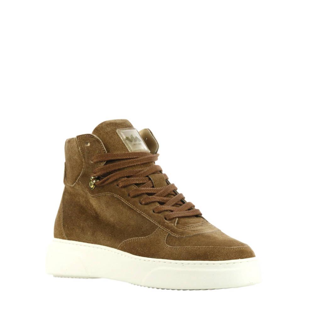 Via Vai 5409072  hoge suède sneakers bruin, Bruin