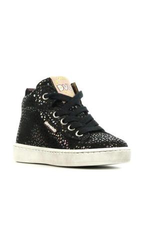 41082   hoge leren sneakers met glitters zwart