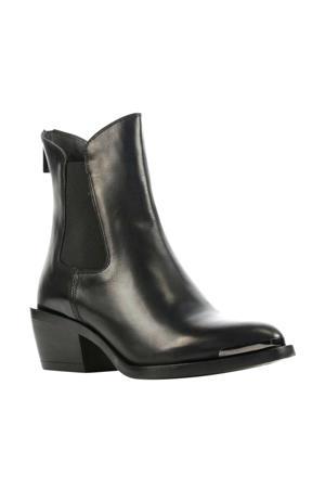 5501036  leren chelsea boots zwart