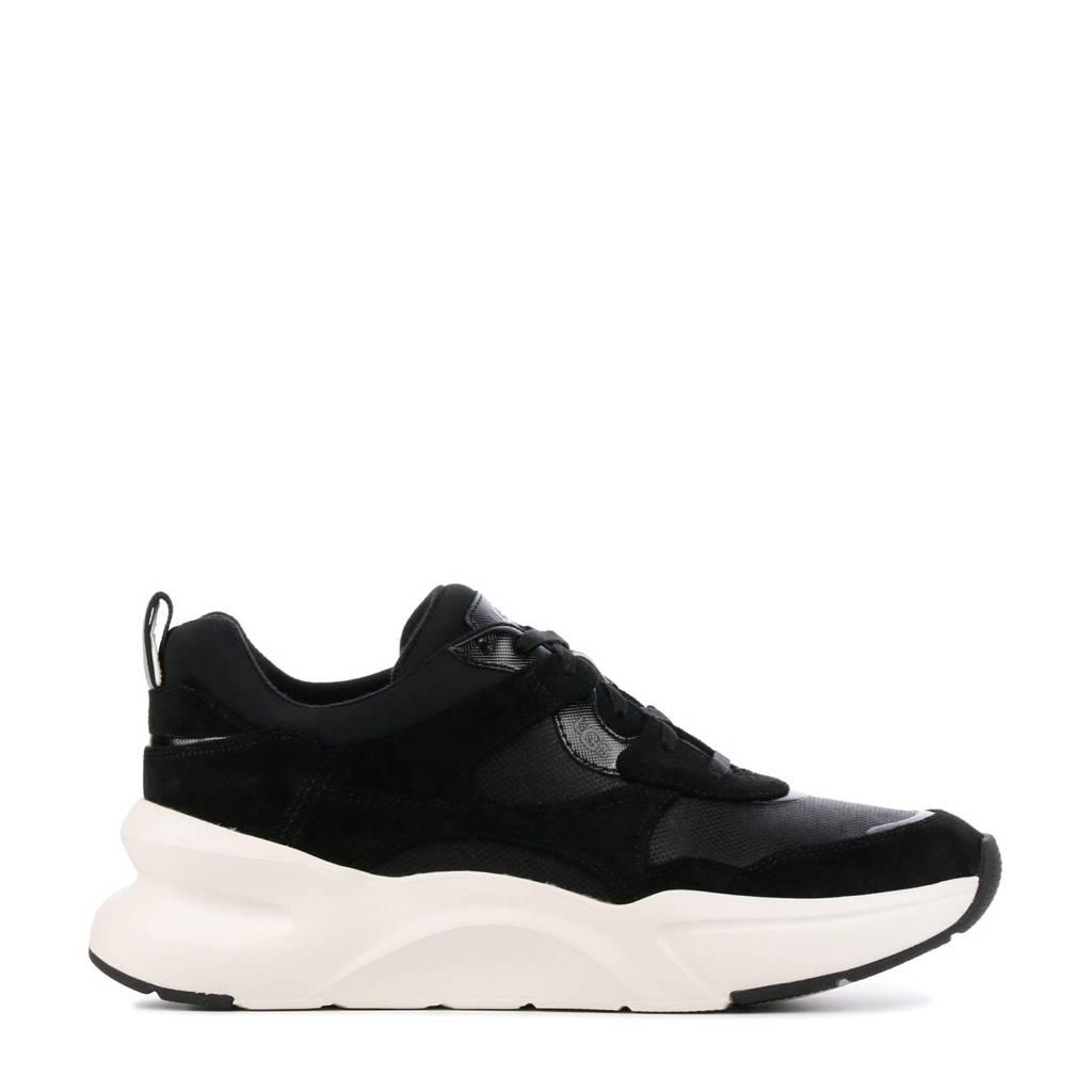 UGG LA Hills  suède chunky sneakers zwart, Zwart