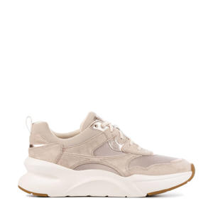 LA Hills  suède chunky sneakers taupe