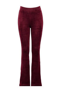 CoolCat Junior velours flared broek Pom bordeaux, Bordeaux