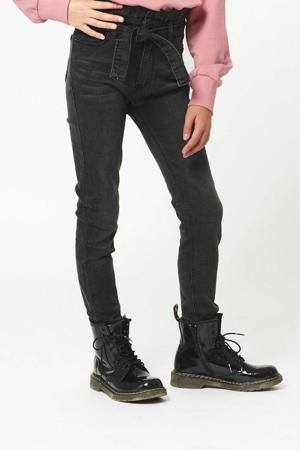 high waist skinny jeans Kiki zwart