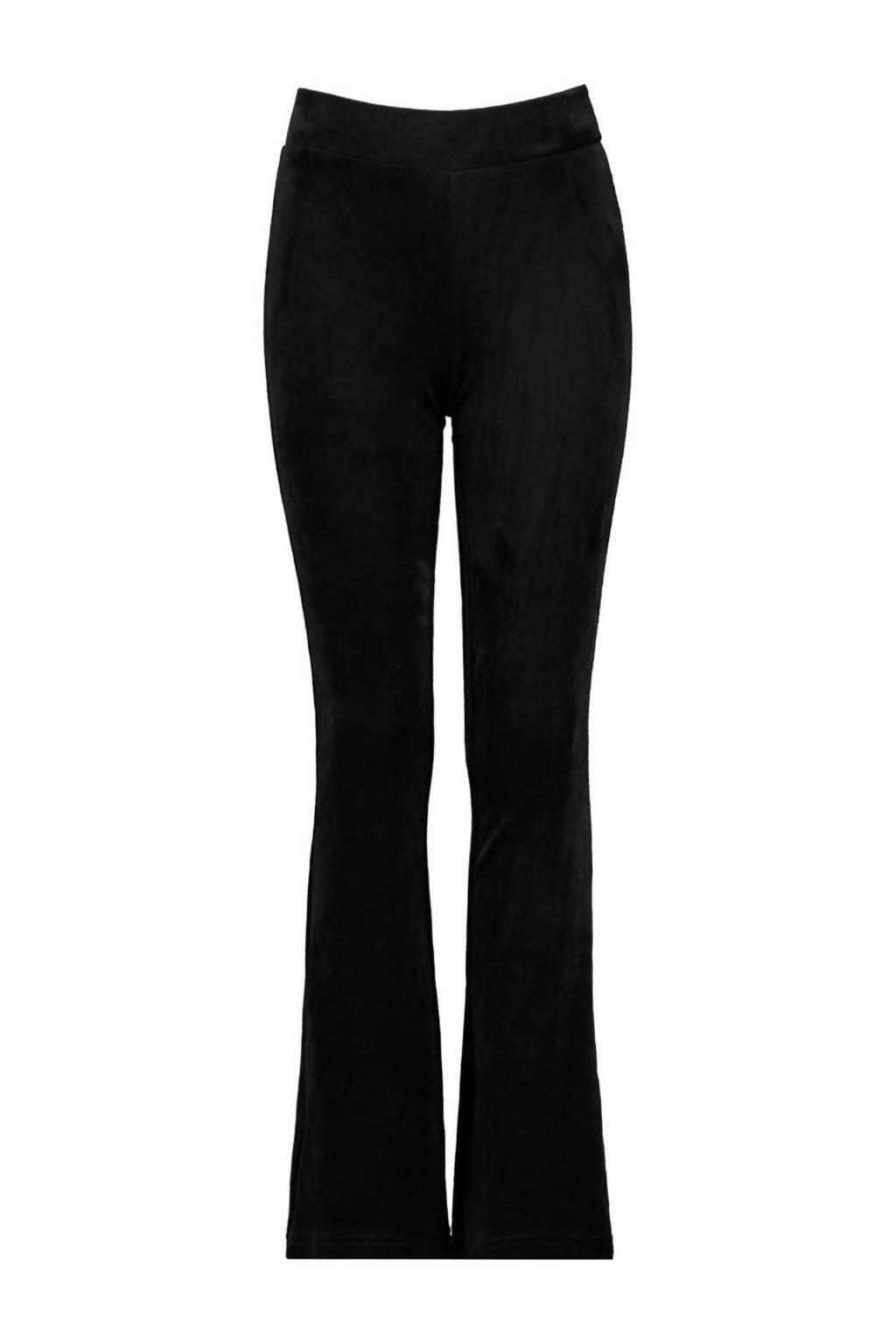CoolCat Junior velours flared broek Pom zwart, Zwart