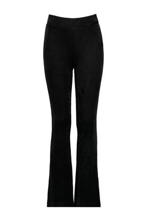 velours flared broek Pom zwart
