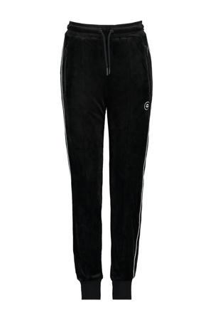 joggingbroek Coc met zijstreep zwart/wit