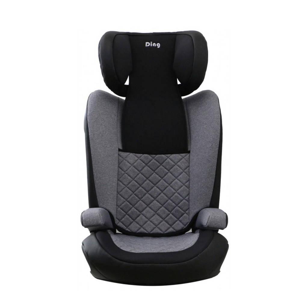 Ding Autostoel Luca Isofix 15-36kg met zijbescherming Zwart-Grijs, Zwart - Grijs