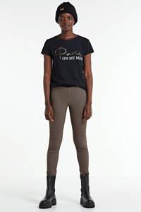 JOSS T-shirt met tekstprint zwart, Zwart - paris on my mind