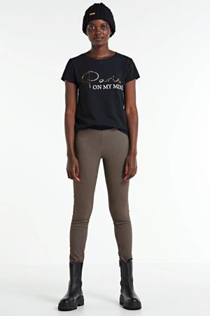 T-shirt met tekstprint zwart