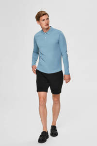 SELECTED HOMME regular fit polo lichtblauw, Lichtblauw