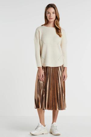 plissé rok goudkleur